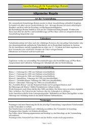 Allgemeine Regeln - MSC-Crazy-Horses