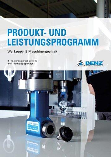 Produkt- und Leistungsprogramm Werkzeug- & Maschinentechnik