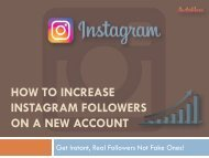 How To Increase Instagram Followers On A New Account