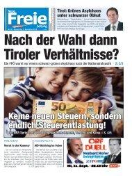 Nach der Wahl dann Tiroler Verhältnisse?