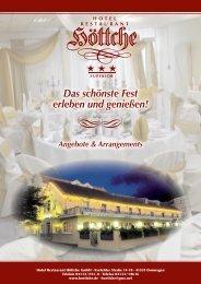 Hotel Restaurant Höttche, Alles fürs schönste Fest