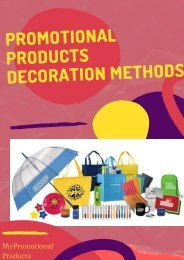 Promotional Products Decoration Methods