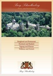 Burg Schnellenberg Attendorn Imagebroschuere