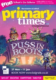 Primary Times Warwickshire & Solihull Back to School 2019