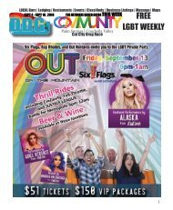 SEPT 4 - SEPT 10 , 2019 THE ULTIMATE QUEER GUIDE THIS WEEK