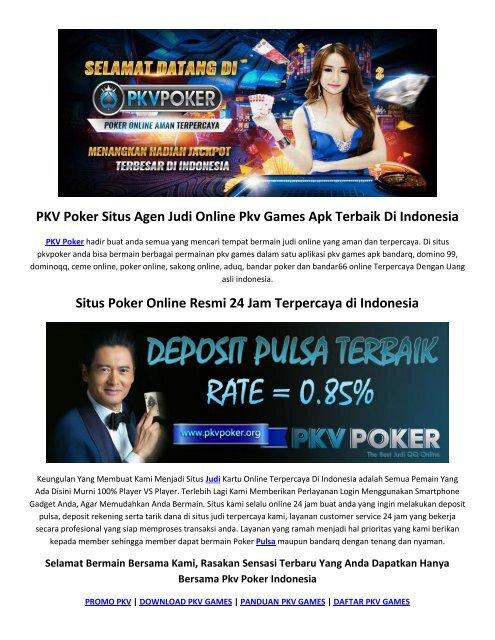 Pkv Poker Situs Judi Qq Online Pkv Games Apk Pulsa Terbaik