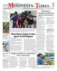 The Mountain Times - Volume 48, Number 35: Aug. 28 - Sept. 3, 2019