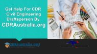 Get Help For CDR Civil Engineering Draftsperson By CDRAustralia.org