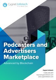 Podcasters and Advertisers Marketplace on Blockchain