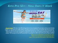 Keto Pro Slim - Don't Wait To Lose Weight