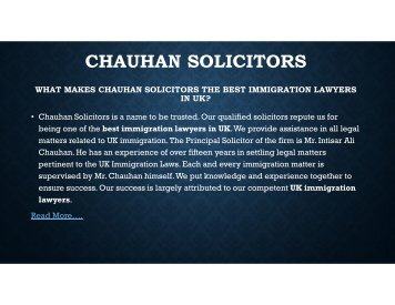 Best immigration Lawyers & solicitors in UK | Chauhan solicitors