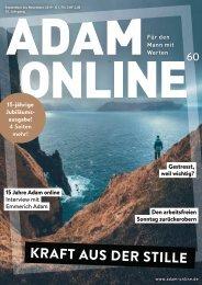 Adam online Nr. 60 Vorschau