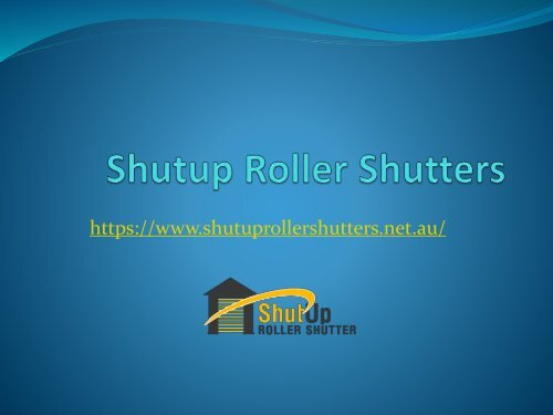 Roller Shutters Perth