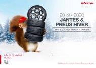 Honda jantes & pneus hiver 2019-2020