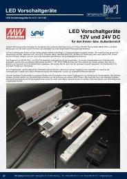 LED Vorschaltgeräte/ LED Netzteile / LED Konverter / LED Converter - NP LIGHTING