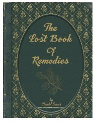 Claude Davis: The Lost Book of Remedies Ebook PDF Download