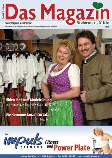 Hiden lädt zum Modefrühling - DAS MAGAZIN Steiermark-Mitte
