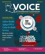 The Voice of Southwest Louisiana September 2019 Issue