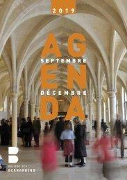 Agenda septembre - décembre 2019
