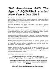 THE Revolution AND The Age of AQUARIUS started New Year's Day 2019