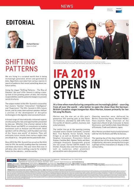 IFA International 2019 Week-End Edition