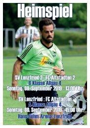 SV Lenzfried Heimspiel Ausgabe 2 Saison 2019-2020