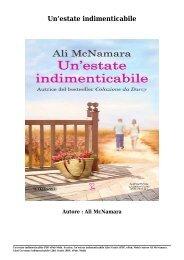 Scarica Un'estate indimenticabile Libri Gratis (PDF, ePub, Mobi) Di Ali McNamara