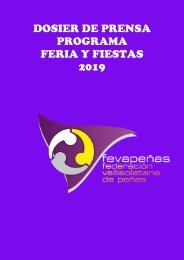 PROGRAMA FEVAPEÑAS FERIA Y FIESTAS VALLADOLID2019