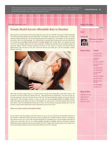 Female Model Escorts Mumbai Call Girl