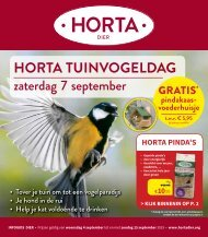 HORTA TUINVOGELDAG - INFOGIDS DIER September