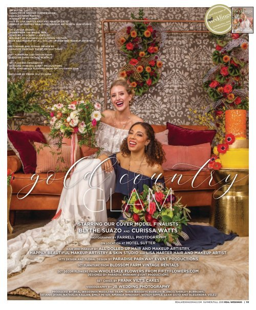 "Real Weddings Magazine's ""Gold Country Glam"" Cover Model Finalist Feature Photo Shoot - Summer/Fall 2019 - Featuring some of the Best Wedding Vendors in Sacramento, Tahoe and throughout Northern California!"