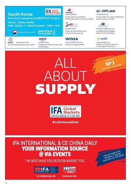 IFA iNternational 2019 DAY 4 Edition