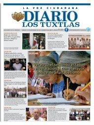 Edición de Diario Los Tuxtlas del día 07 de Septiembre de 2019