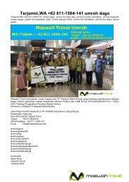 Terjamin,WA +62 811-1564-141 umroh Dago Bandung