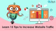 Learn 15 Tips to Increase Website Traffic