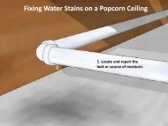Fixing Water Stains on a Popcorn Ceiling