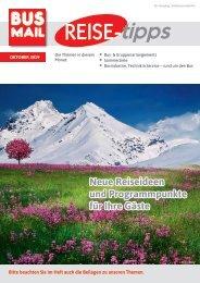 BusMail Reisetipps Ausgabe Oktober 2019