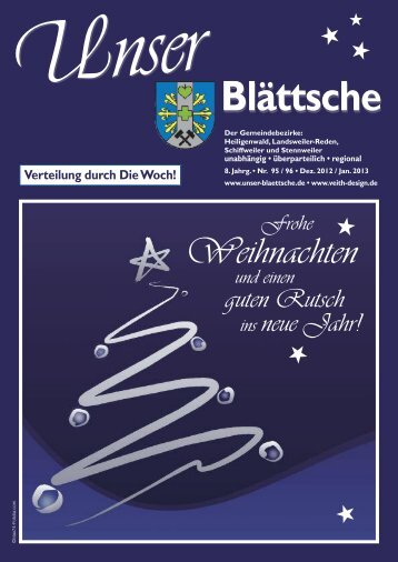 Unser Blättsche · Ausgabe 95 / 96 · Dezember 2012 / Januar 2013