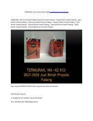 TERMURAH, WA +62 812-9627-2689 Jual British Propolis Padang