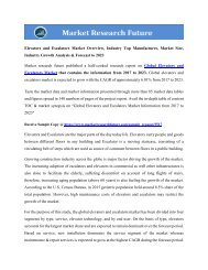 Elevators and Escalators Market Overview
