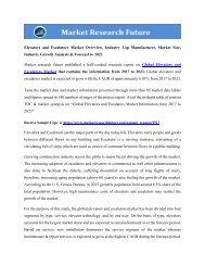 Elevators and Escalators Market Overview