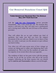 Three Significant Reasons Why You Should Sell Off Your Old Car