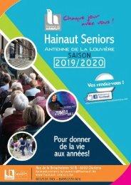 Brochure de la saison 2019-2020 de l'antenne de La Louvière d'Hainaut Seniors