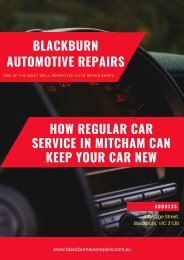 How Regular Car Service in Mitcham Can Keep Your Car New
