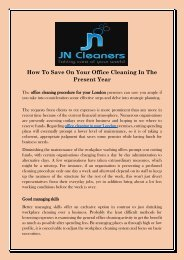 How To Save On Your Office Cleaning In The Present Year