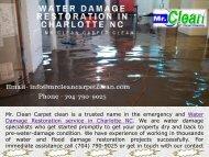 Water Damage Restoration Service in Charlotte, NC