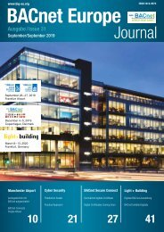 BACnet Europe Journal – Issue 31