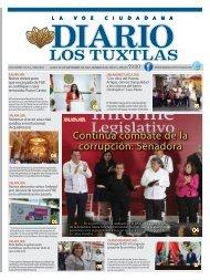 Edición de Diario Los Tuxtlas del día 09 de Septiembre de 2019