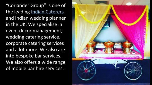 Indian and Asian Wedding Caterer