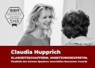 Claudia Hupprich . Klarheitsschafferin . Umsetzungsexpertin .